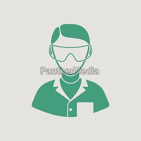 icon of chemist in eyewear gray