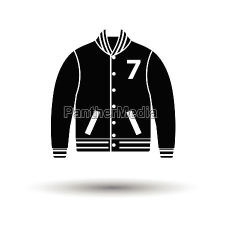 baseball jacket icon white background with