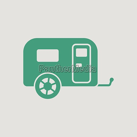 camping family caravan car icon