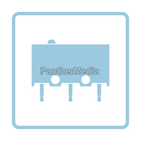 micro button icon icon blue frame