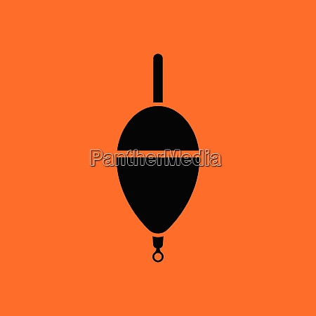 icon of float orange background