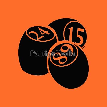 bingo kegs icon orange background with