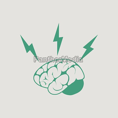 brainstorm icon gray background with
