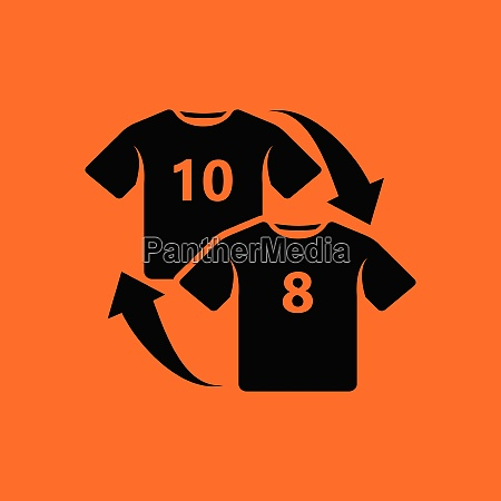 soccer replace icon orange background with