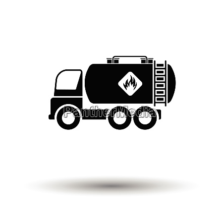 oil truck icon white background with