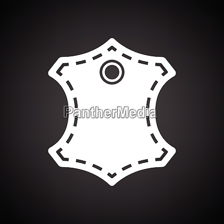 leather sign icon black background with