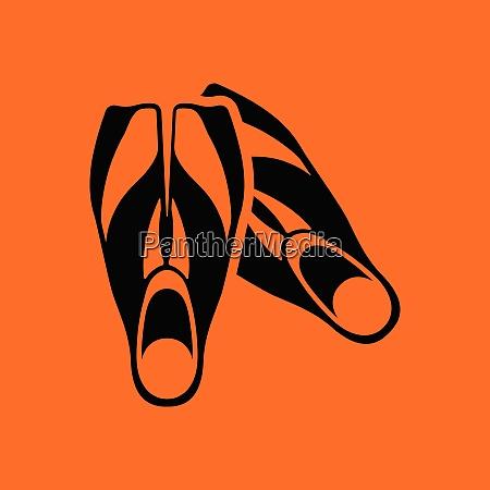 icon of swimming flippers orange