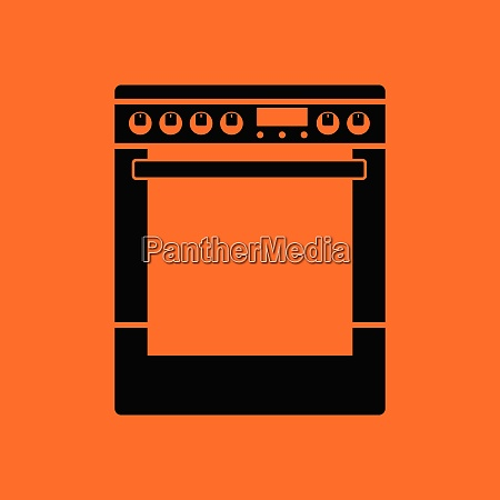 kitchen main stove unit icon orange