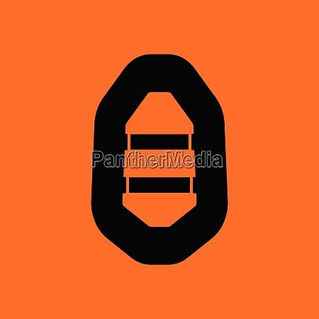 icon of rubber boat orange