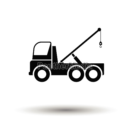 car towing truck icon white background