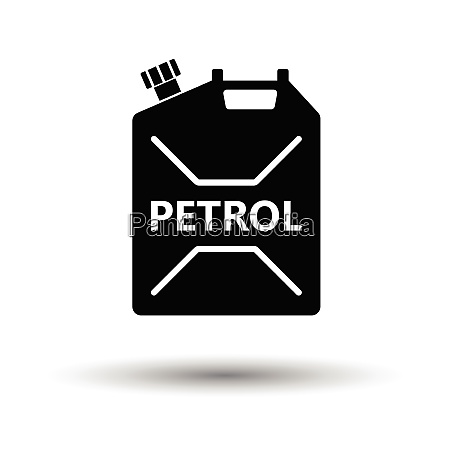 fuel canister icon white background with