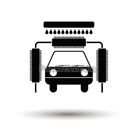 car wash icon white background with