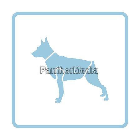 dog cloth icon blue frame design