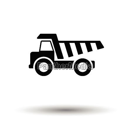 icon of tipper white background with