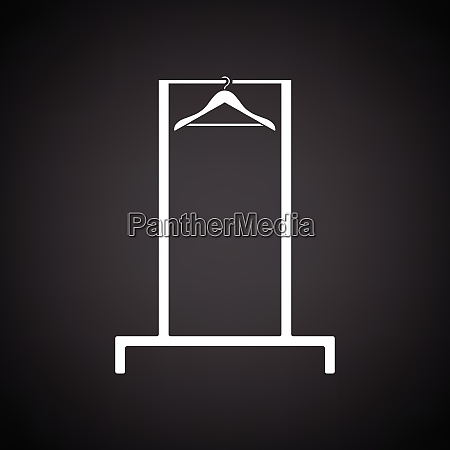 hanger rail icon black background with