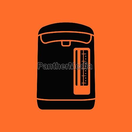 kitchen electric kettle icon orange background