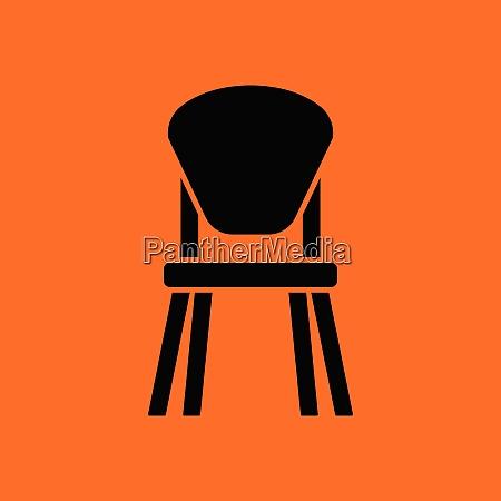 child chair icon orange background with