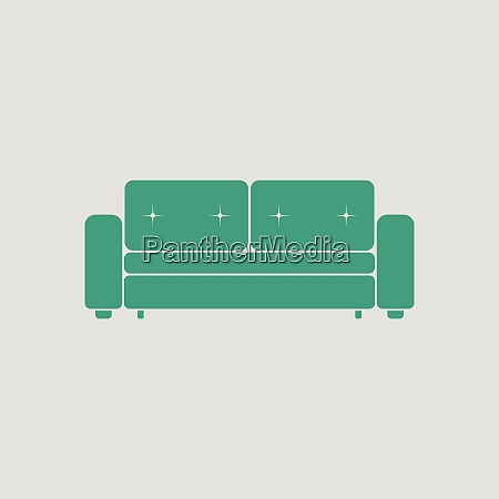 home sofa icon gray background with