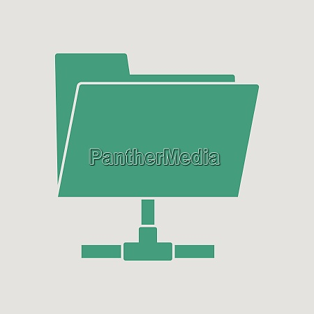 shared folder icon gray background with