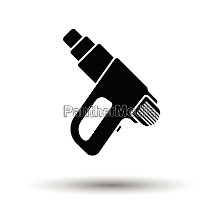electric industrial dryer icon white background