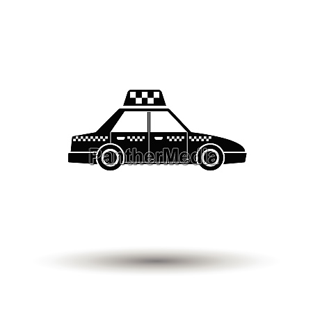 taxi car icon white background with