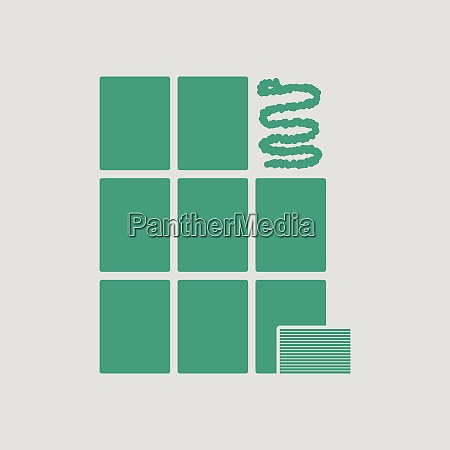 wall tiles icon gray background with