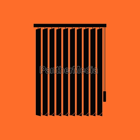 office vertical blinds icon orange background