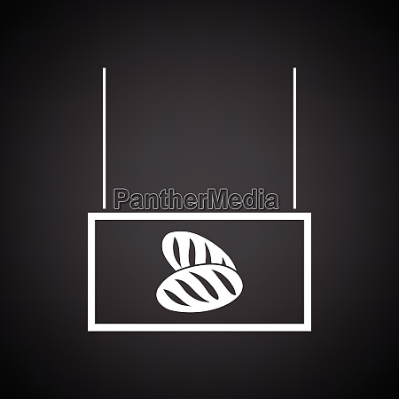 bread market department icon black background