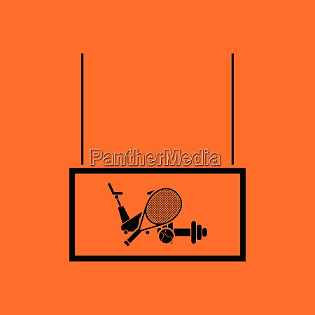 sport goods market department icon orange