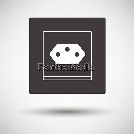 swiss electrical socket icon on gray