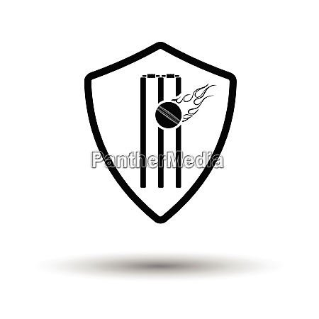 cricket shield emblem icon white background