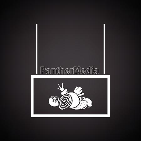 vegetables market department icon black background