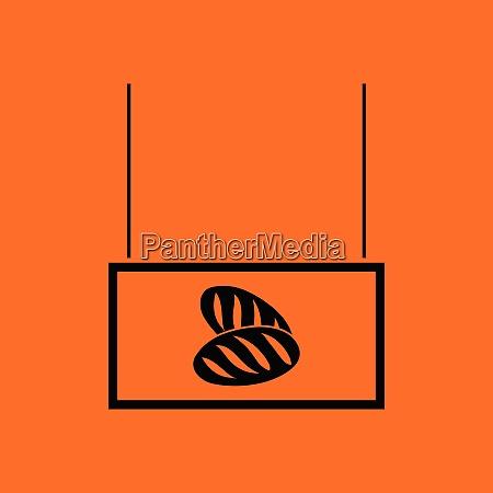 bread market department icon orange background