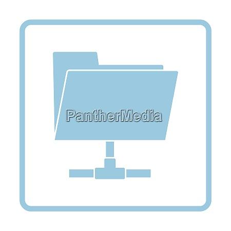 shared folder icon blue frame design