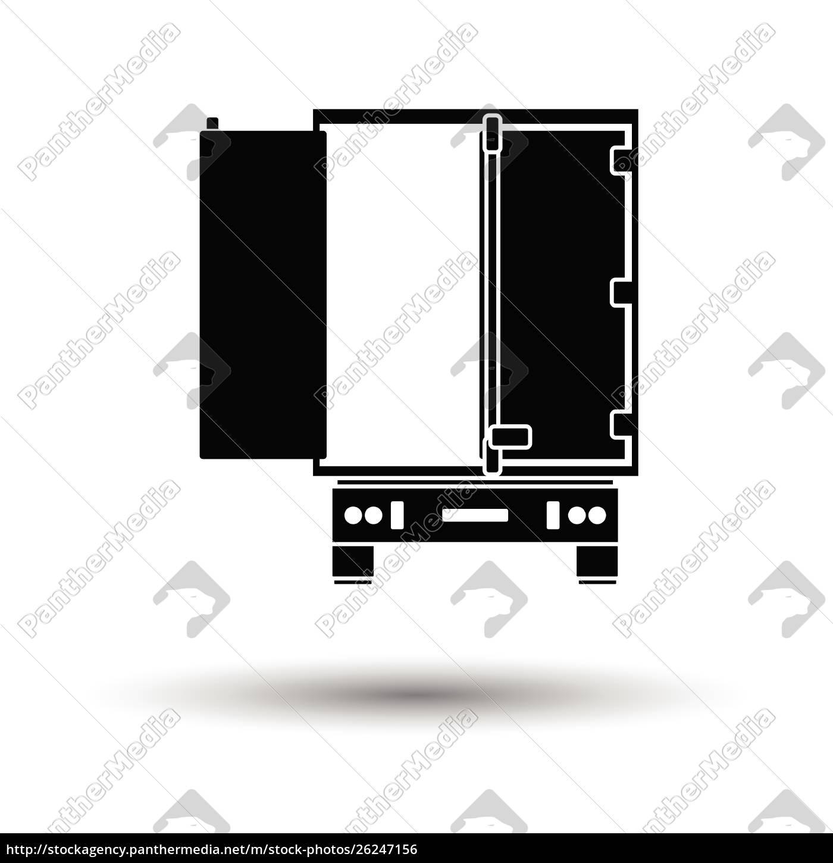 truck, trailer, rear, view, icon., white - 26247156