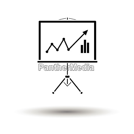 analytics stand icon white background with