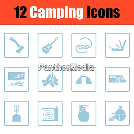 camping icon set camping icon set