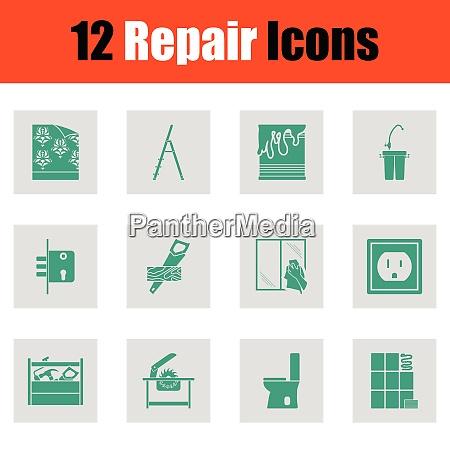 set of repair icons set of