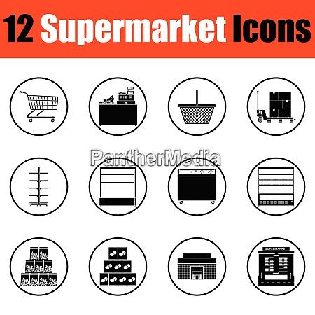 supermarket icon set supermarket icon set