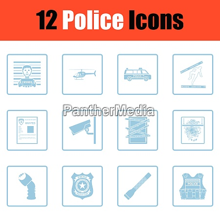 set of police icons set of