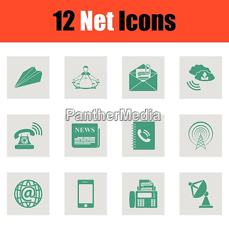 set of communication icons set of