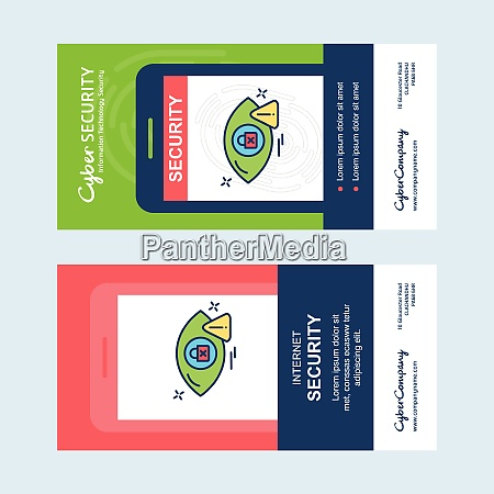 cyber security banner design vector for