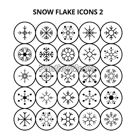 snow flake icons for web design