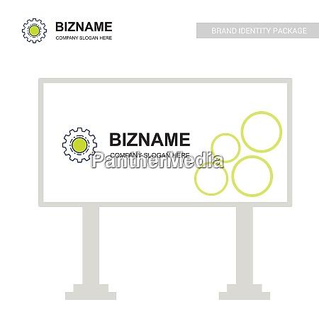 company bill board design with gear