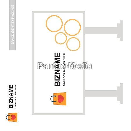 company bill board design vector for