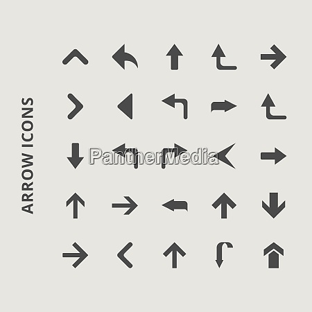 arrow icons for web design and