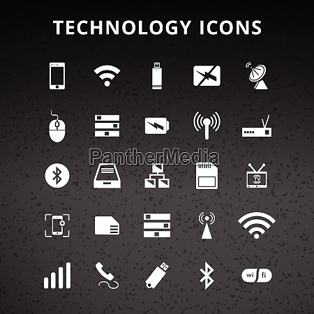 technology and hardware icons for web