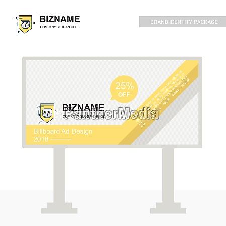company bill board design with creative