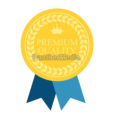 art flat premium quality medal icon