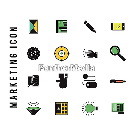 marketing icon for web design and